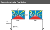 Reunion Car Flags 10.5x15 inch Premium