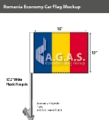 Romania Car Flags 12x16 inch Economy