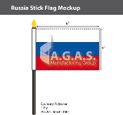 Russia Stick Flags 4x6 inch