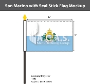 San Marino Stick Flags 4x6 inch (with seal)