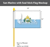 San Marino Stick Flags 12x18 inch (with seal)