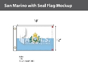 San Marino Flags 12x18 inch (with seal)