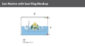 San Marino Flags 4x6 foot (with seal)