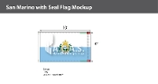 San Marino Flags 6x10 foot (with seal)