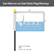 San Marino Stick Flags 4x6 inch (no seal)