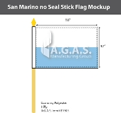 San Marino Stick Flags 12x18 inch (no seal)