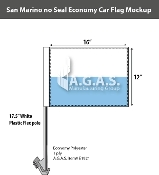 San Marino Car Flags 12x16 inch Economy (no seal)
