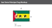 Sao Tome & Principe Flags 4x6 foot