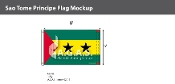 Sao Tome & Principe Flags 5x8 foot