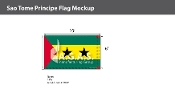 Sao Tome & Principe Flags 6x10 foot