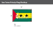 Sao Tome & Principe Flags 8x12 foot