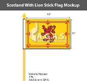 Scotland Stick Flags 12x18 inch (Royal Standard)