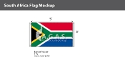 South Africa Flags 3x5 foot