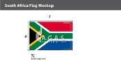 South Africa Flags 8x12 foot