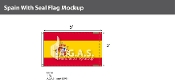 Spain Flags 3x5 foot (with seal)