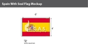 Spain Flags 4x6 foot (with seal)