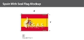 Spain Flags 5x8 foot (with seal)