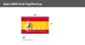 Spain Flags 6x10 foot (with seal)