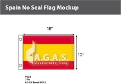 Spain Flags 12x18 inch (no seal)