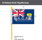 St. Helena Stick Flags 12x18 inch