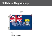St. Helena Flags 12x18 inch
