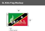St. Kitts Flags 12x18 inch