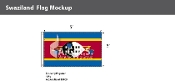 Swaziland Flags 3x5 foot