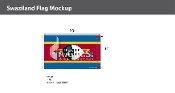 Swaziland Flags 6x10 foot