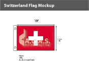 Switzerland Flags 12x18 inch