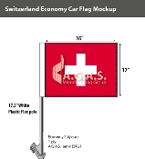Switzerland Car Flags 12x16 inch Economy