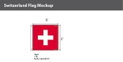 Switzerland Flags 5x5 foot