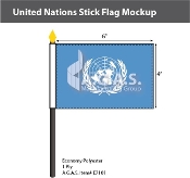 United Nations Stick Flags 4x6 inch