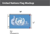 United Nations Flags 12x18 inch