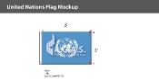 United Nations Flags 2x3 foot
