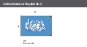 United Nations Flags 8x12 foot