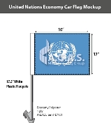 United Nations Car Flags 12x16 inch Economy