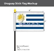 Uruguay Stick Flags 4x6 inch