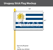 Uruguay Stick Flags 12x18 inch