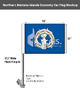 Northern Mariana Islands Car Flags 12x16 inch Economy