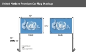 United Nations Car Flags 10.5x15 inch Premium