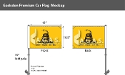 Gadsden Car Flags 10.5x15 inch Premium