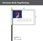 Christian Stick Flags 8x12 inch