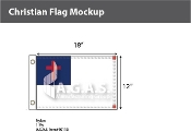 Christian Flags 12x18 inch