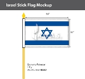 Israel Stick Flags 12x18 inch