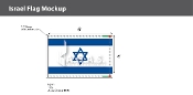 Israel Deluxe Flags 4x6 foot