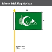 Islamic Stick Flags 16x24 inch