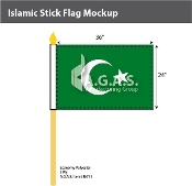 Islamic Stick Flags 24x36 inch