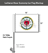 Lutheran Car Flags 12x16 inch Economy