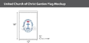 United Church of Christ Garden Flags 18x12 inch