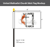 Methodist Stick Flags 4x6 inch